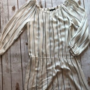 SANCTUARY White and black striped dress